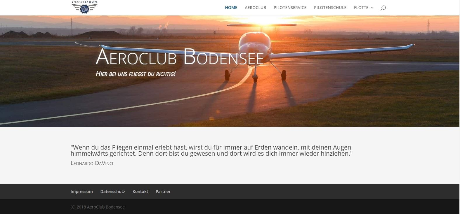 AeroClub – Wir erneuern den Internetauftritt
